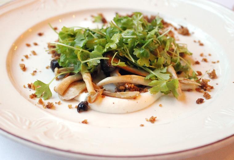 An outstanding mushroom salad.