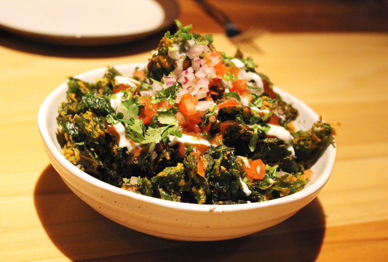 Palak chaat -- so good, you will inhale it.