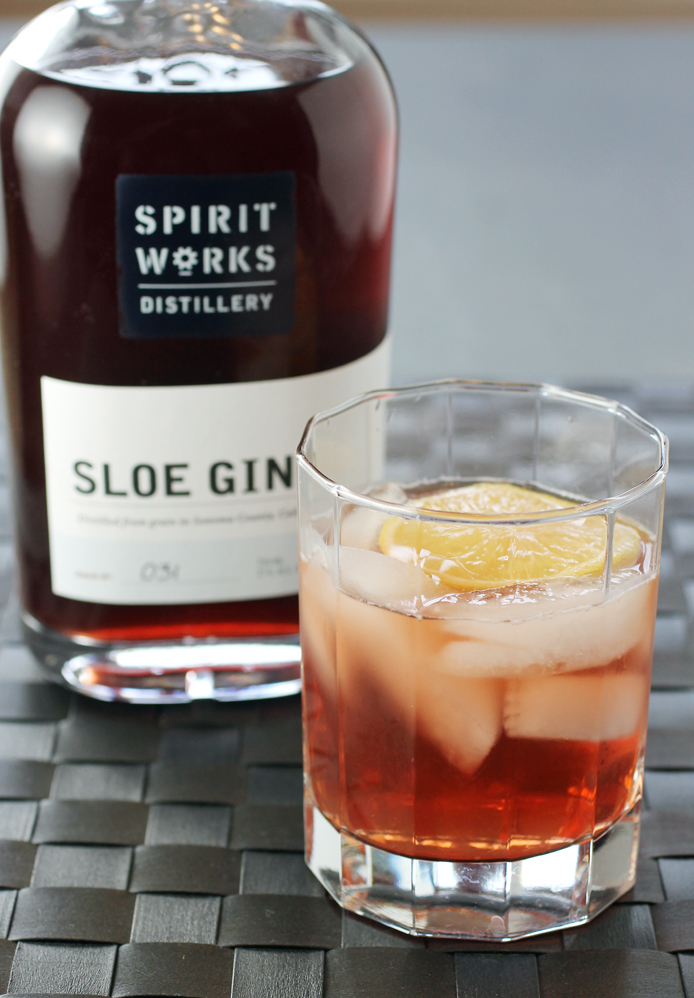 The beautiful and delicious Sloe Gin. (photo by Carolyn Jung)