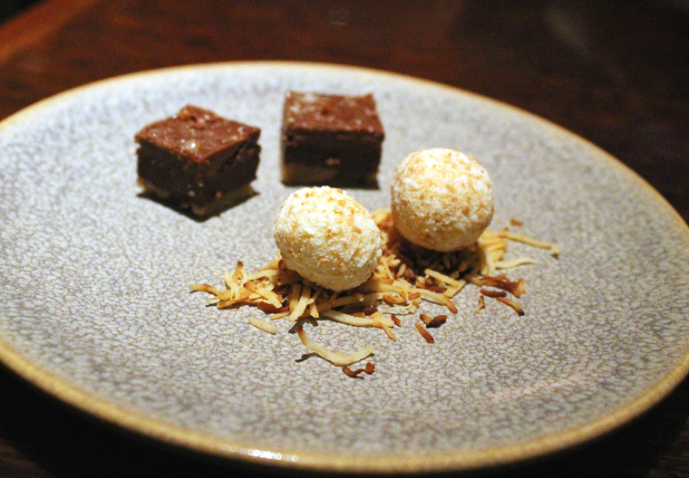 Fudge-like sweets for the finale.