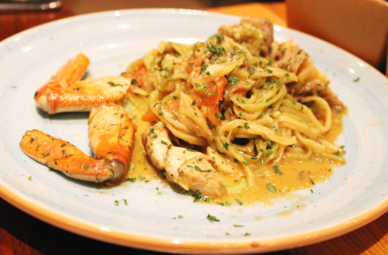 Dungeness crab pasta.