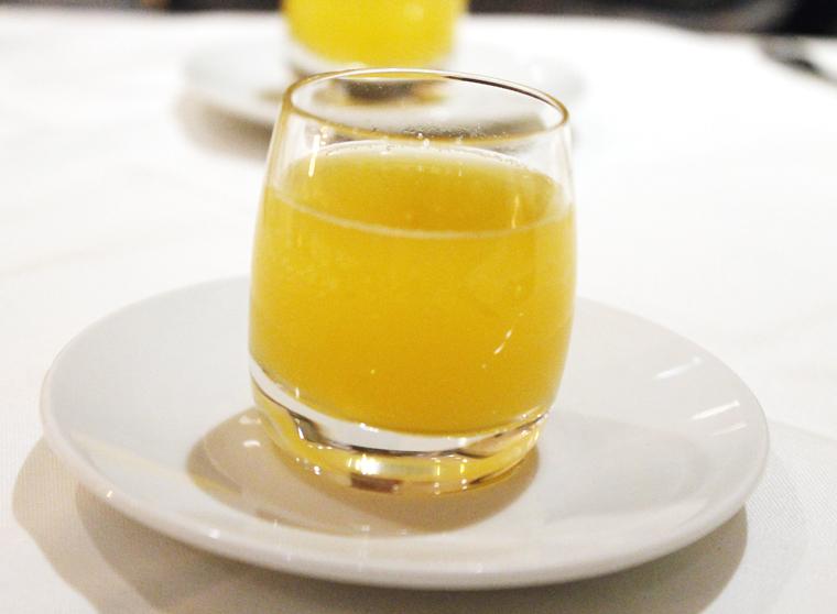 A fruit soda intermezzo.