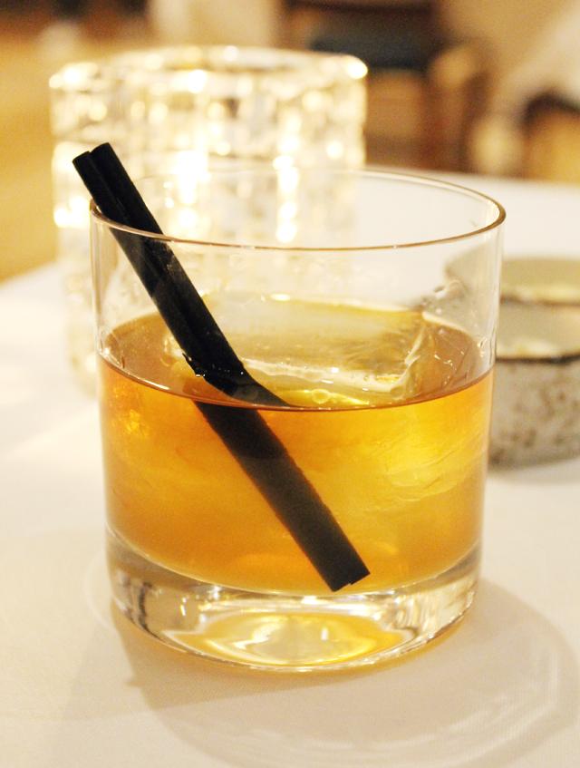The barrel-aged rye-based cocktail.