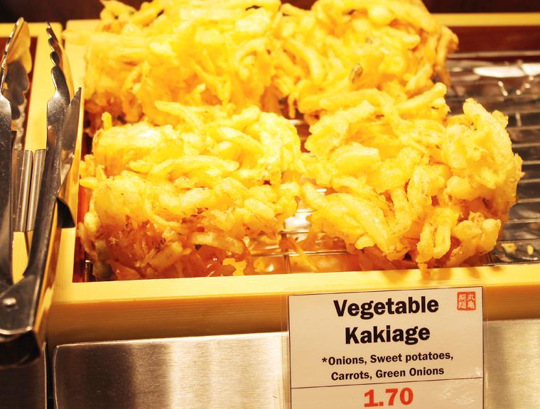 Vegetable kakiage is among the tempura offerings.