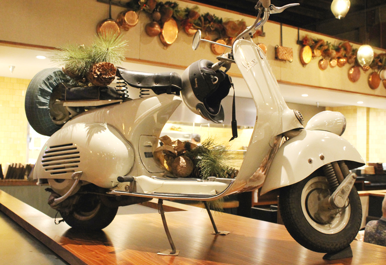 What's an Italian restaurant without a Vespa, right?
