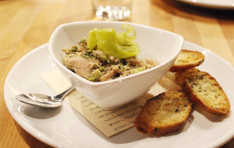 Italian tuna dip with crostini.