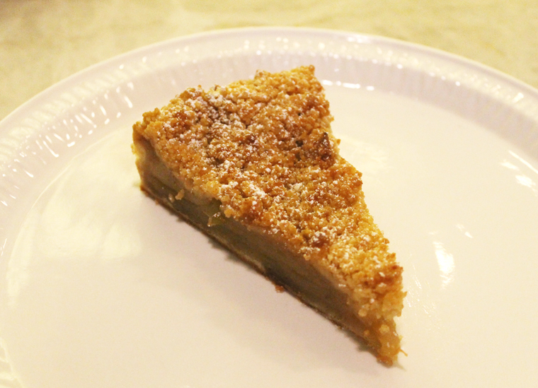 Streusel-topped apple pie.