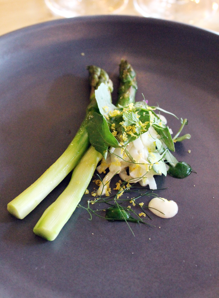 Spring asparagus with an unusual potato salad at Commonwealth.