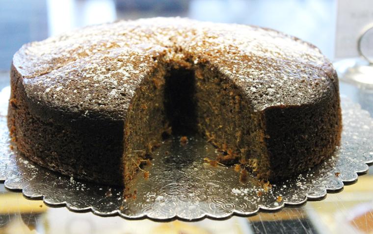 Ginger cake.