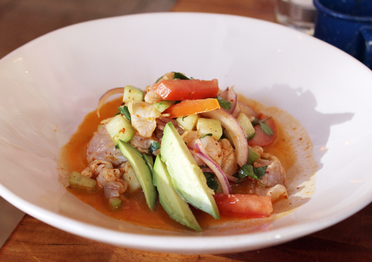 A spicy ceviche.