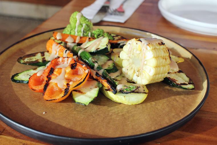 A lovely grilled veggie platter.