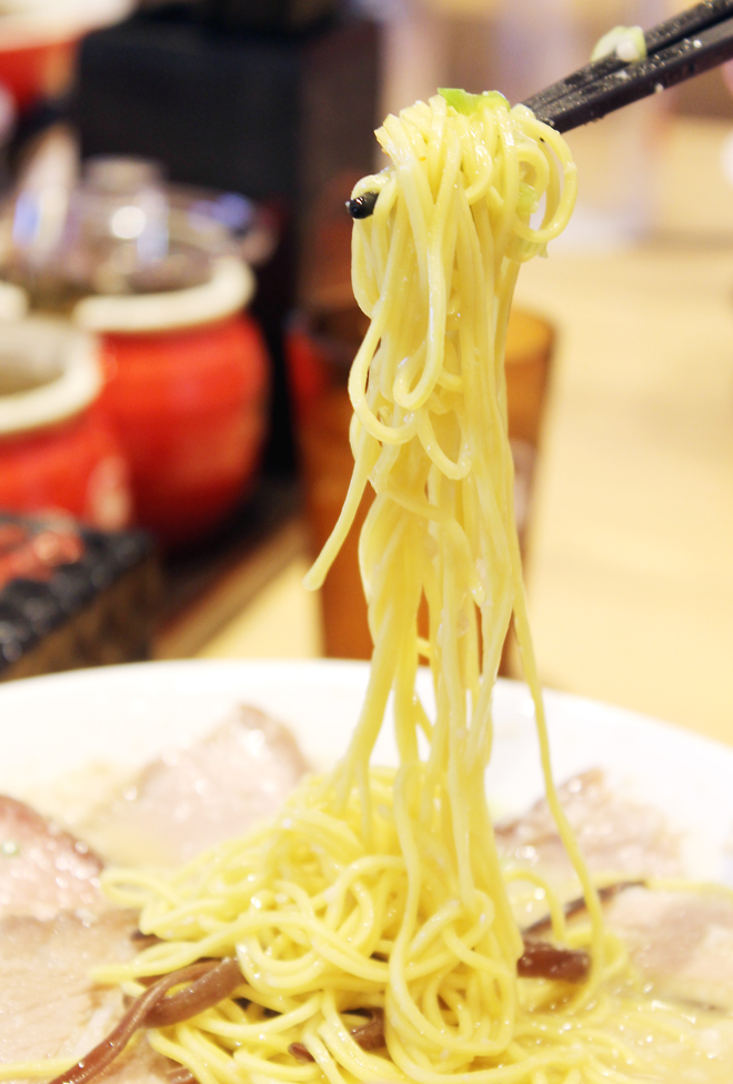 These noodles, made fresh on site every day, are a cut above.