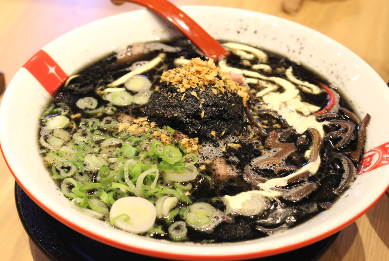 Squid ink ramen.