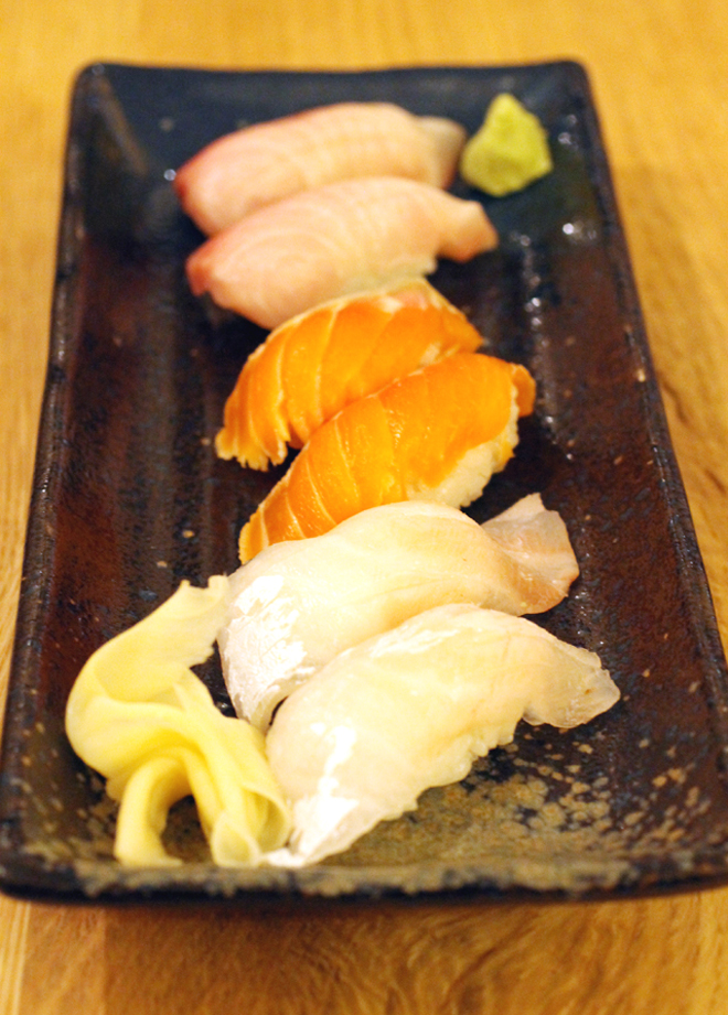 A selection of nigiri.