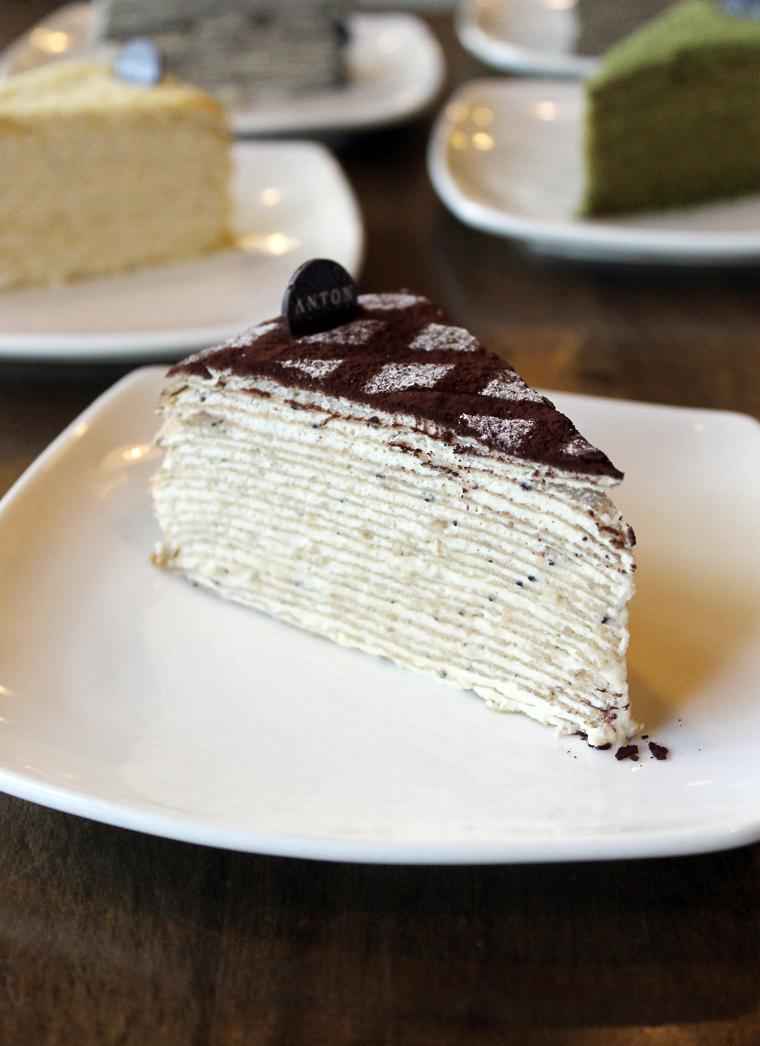 Anton SV Patisserie's tiramisu crepe cake.