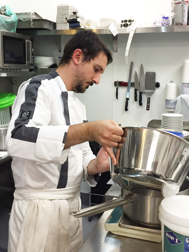 Pastry Sous Chef Gerald Chahine, who makes the macarons.