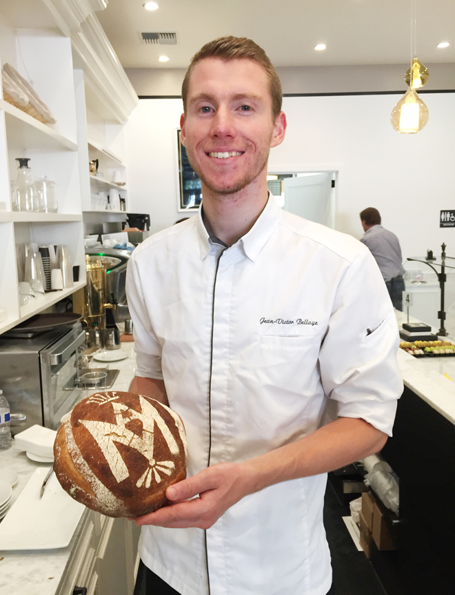 Head Pastry Chef Jean-Victor Bellaye who had never been to California before taking this job.
