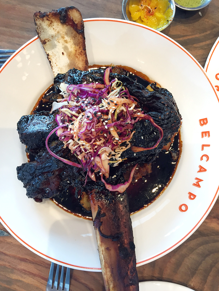 Feast your eyes on an entire beef short rib -- Korean-style -- at Belcampo in Oakland.