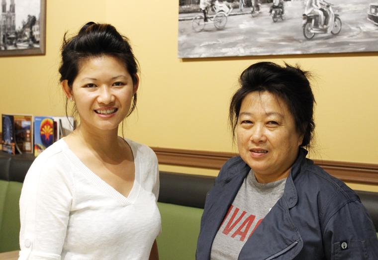 Owners Quinn Tram (left) and Lauren Pham (right).