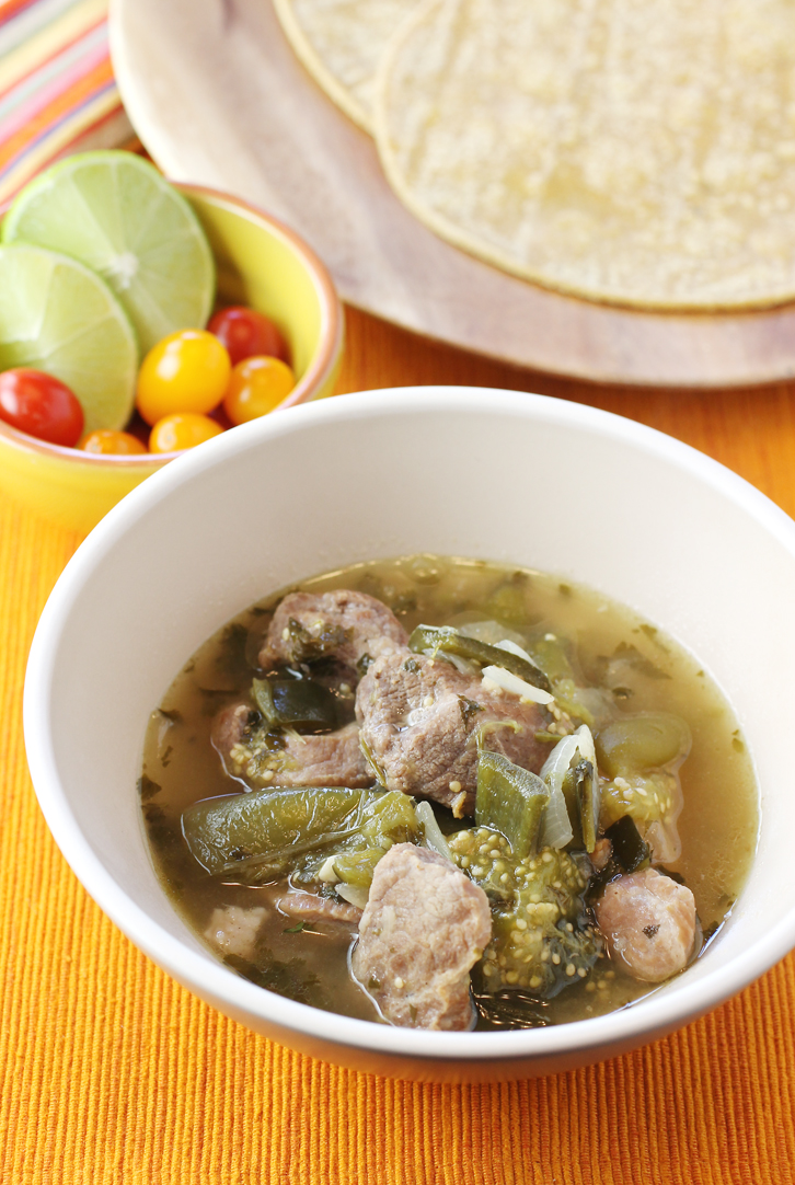 Comfort food at its finest -- brothy, tangy chile verde.
