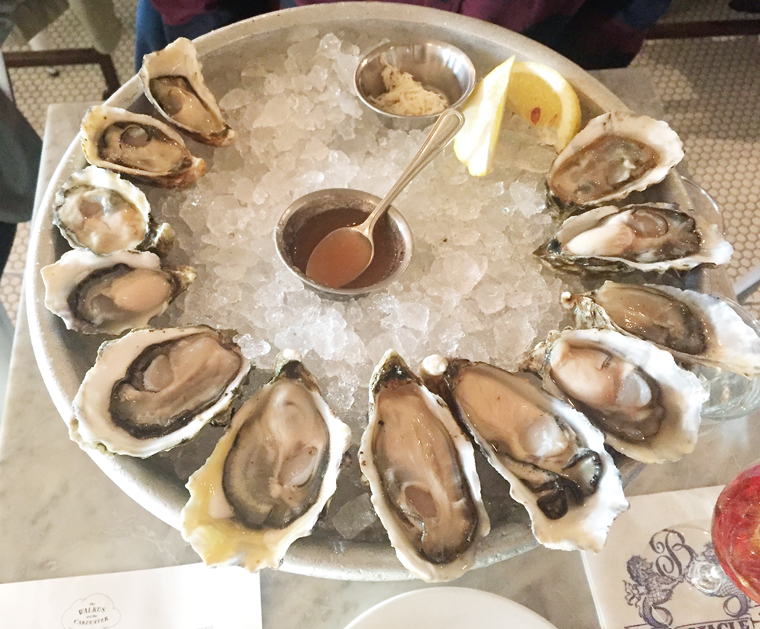 Go to town on the oysters here.