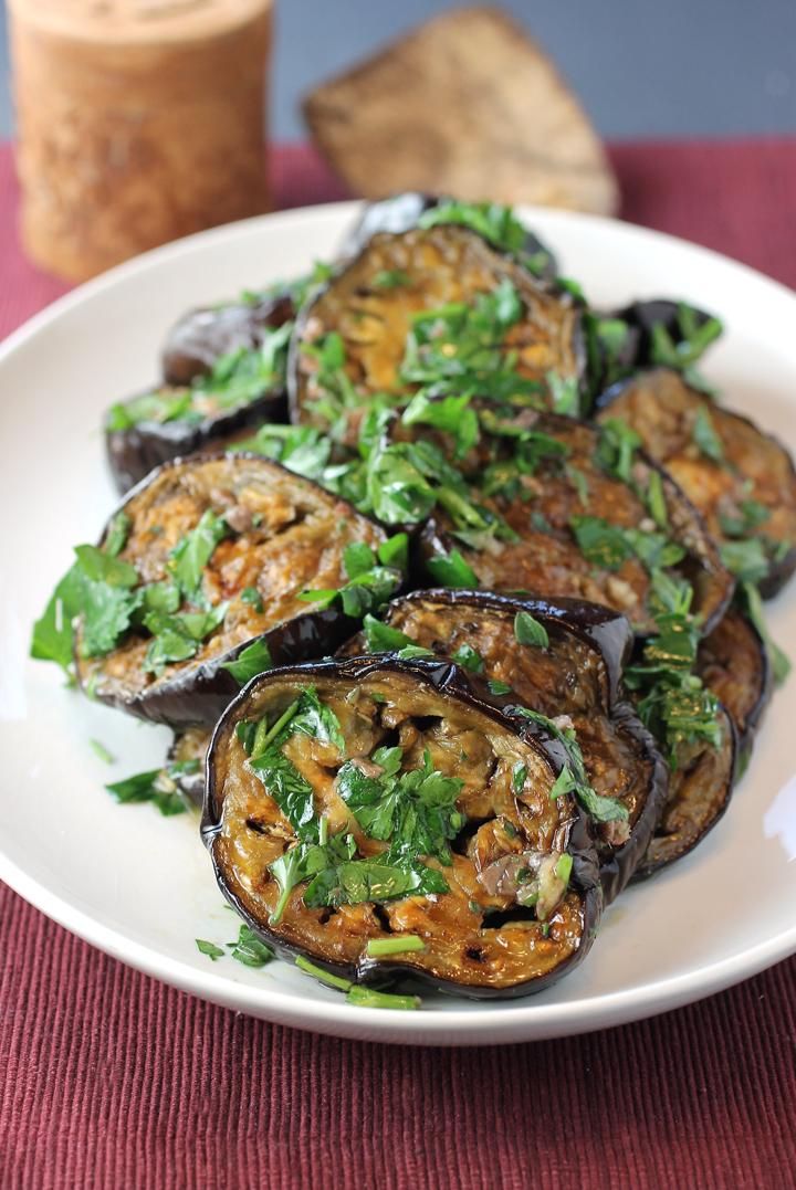 High-heat roasting turns eggplant sweet and custardy.