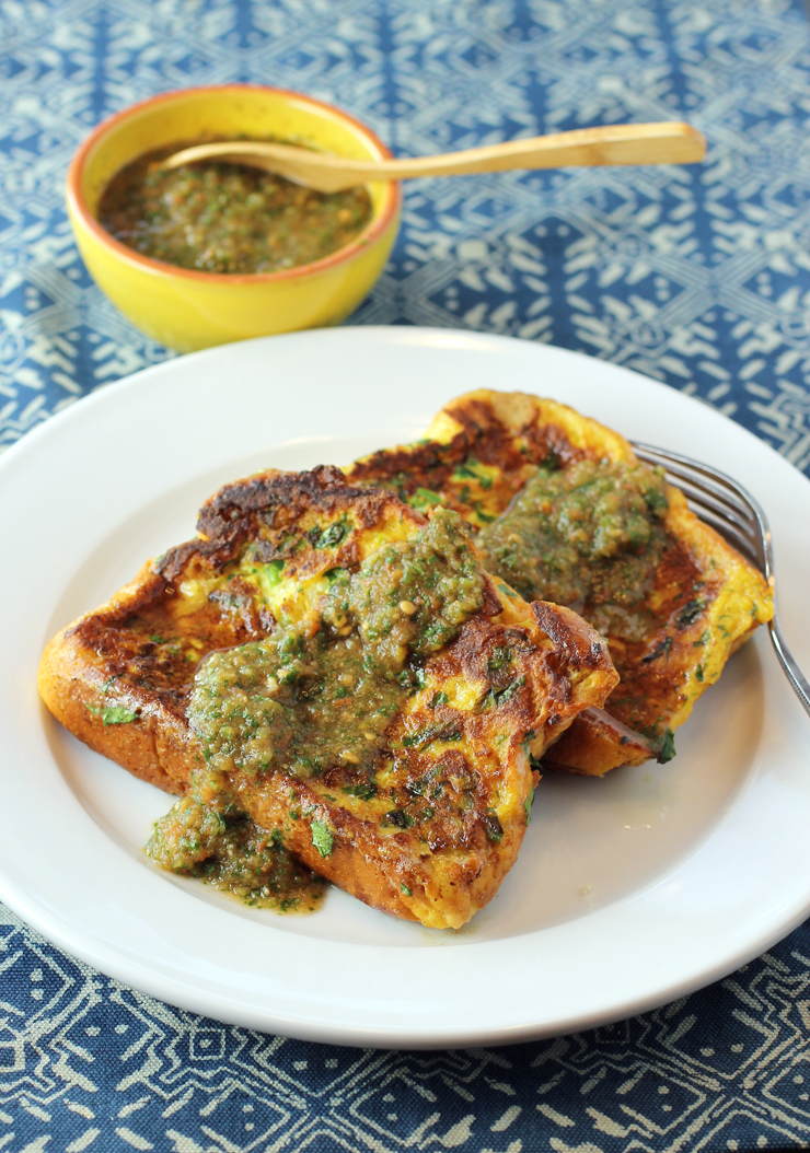 French toast gets a savory makeover with Indian spices.