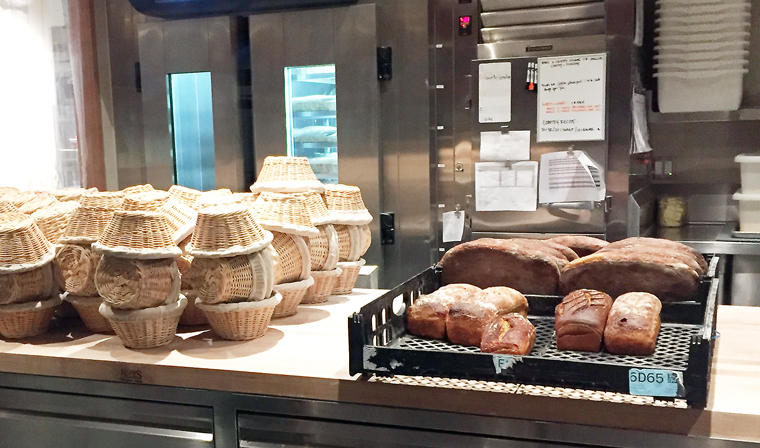 Loaves reserved for dinner service.