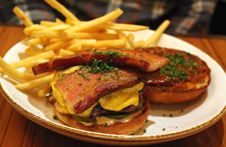The Niman Ranch burger with that awesome house-made bacon.