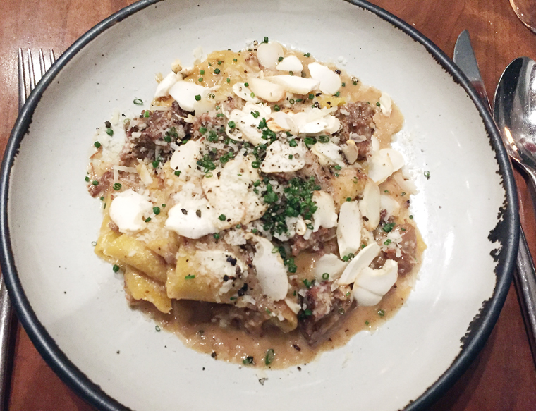 A lusty veal sugo pasta.