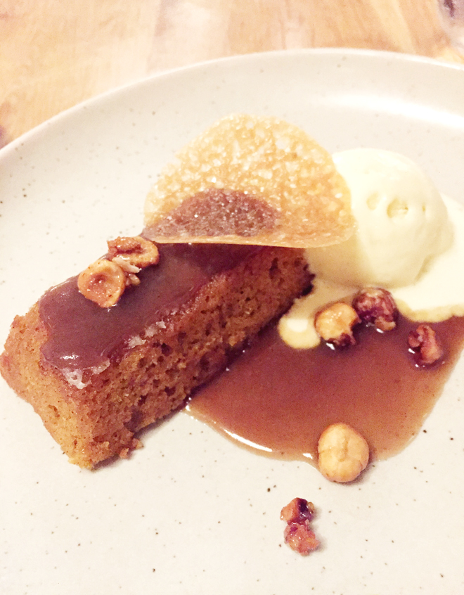 Pumpkin toffee pudding to dig into. (Photo by Carolyn Jung)