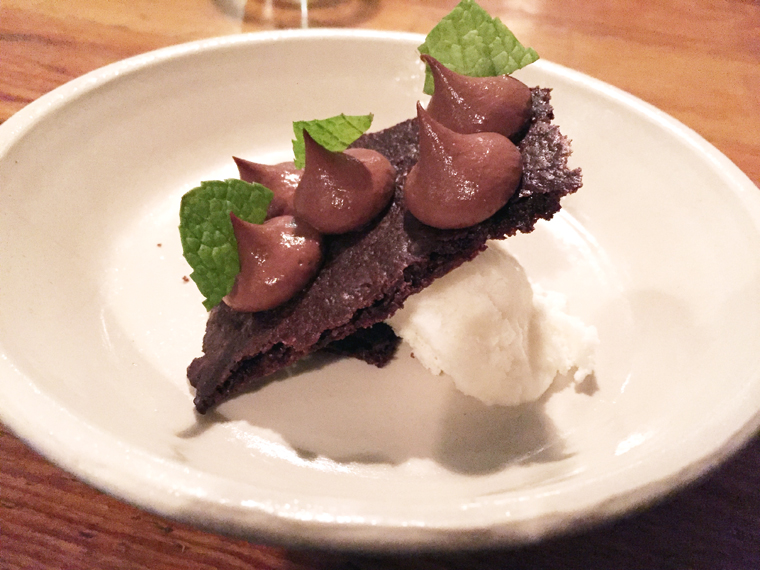 Mint and chocolate go hand in hand in this classic Rich Table dessert.