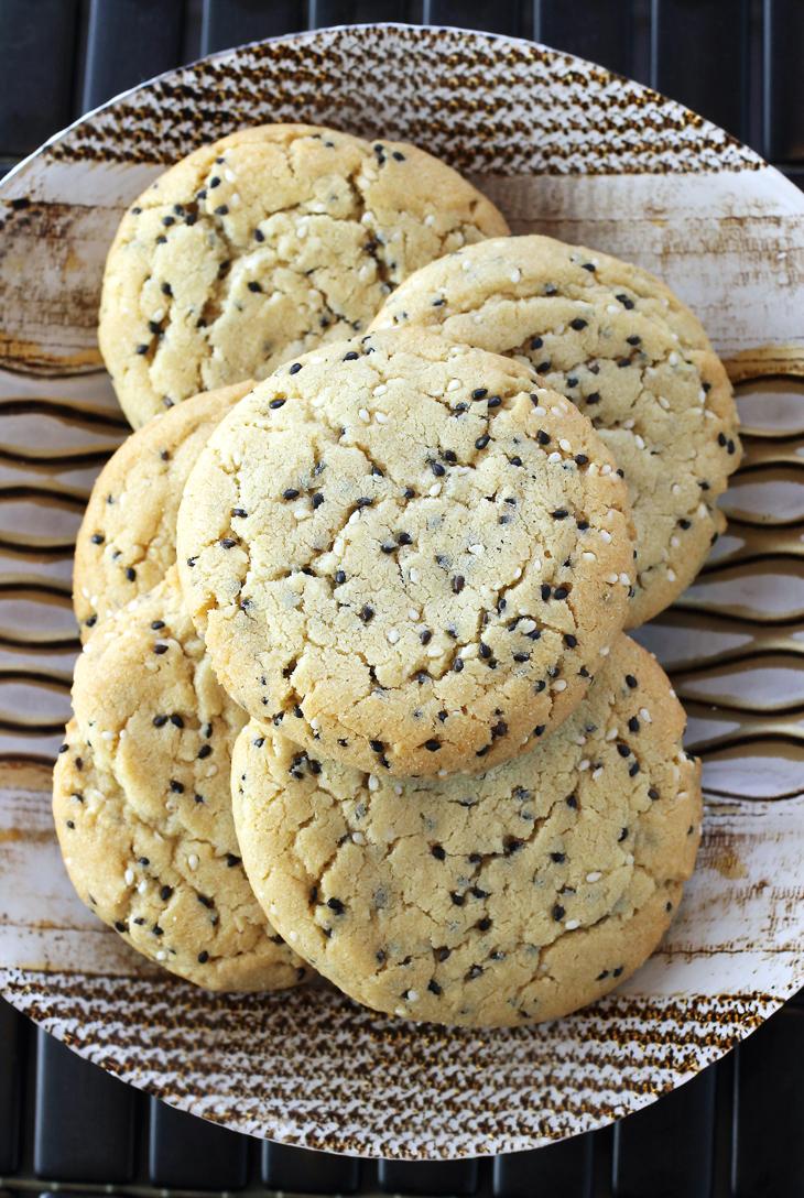 Nutty, elegant tahini cookies.