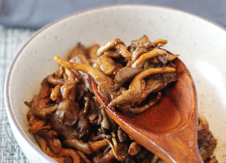Red miso, butter and mushrooms make magic together.