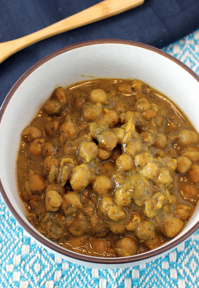 Chickpeas that are so aromatic and satisfying.