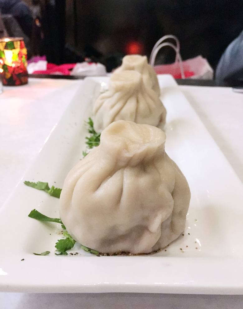 Giant soup-filled dumplings at Bevri.