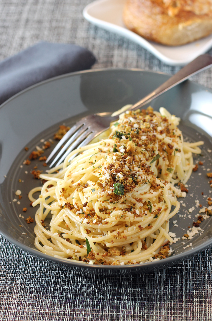 Classic olive oil-garlic-hot pepper pasta gets a boost.