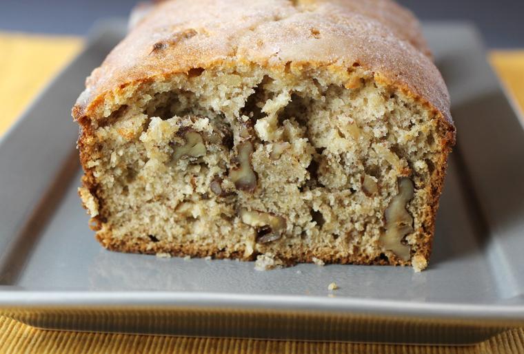 Totally irresistible banana bread chock-full of walnuts.