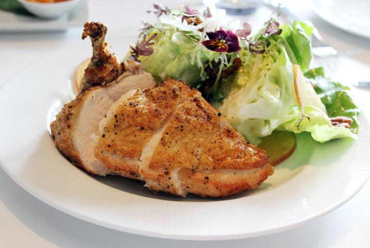 A hefty chicken salad.
