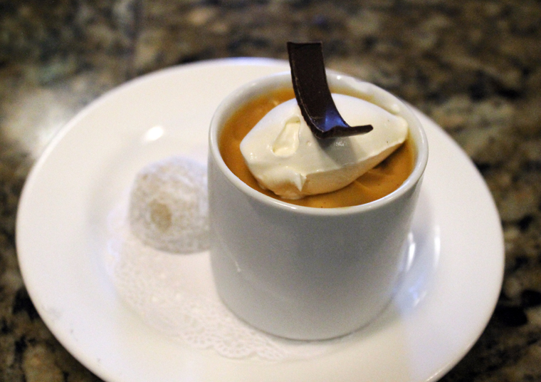 My favorite butterscotch pudding. I always have to have it here.