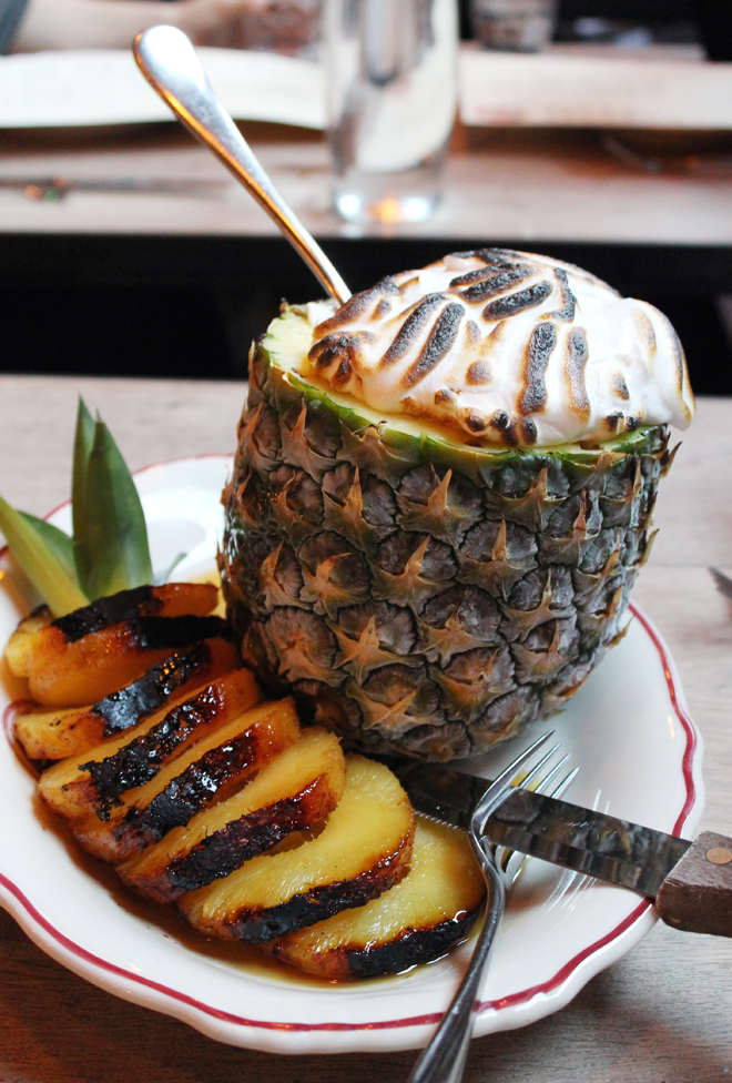 How about a little pineapple -- OK, a lot of pineapple -- to finish the night?