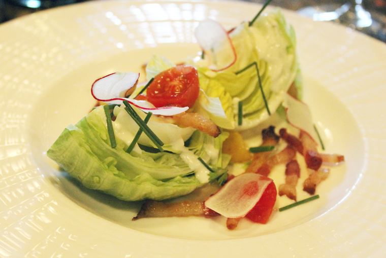 Half an order of the wedge salad.