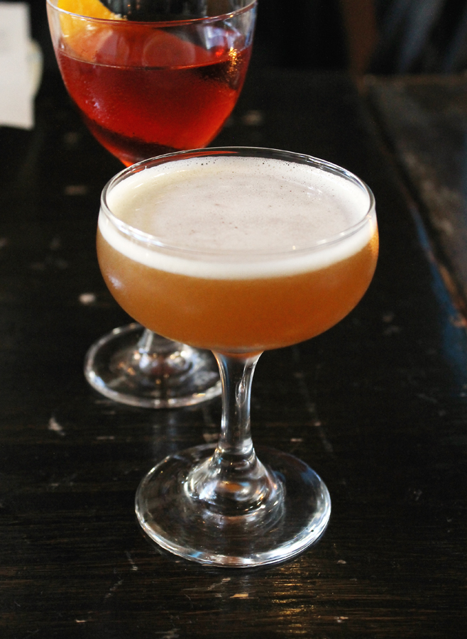 """The """"Bitter Truth'' with a Negroni behind it."""