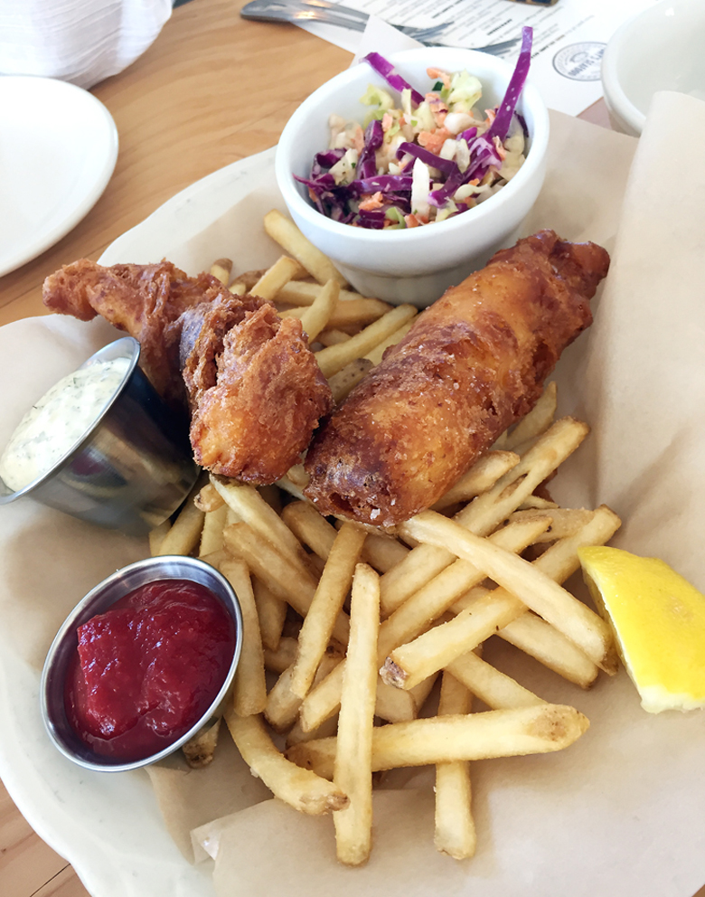 Sublime fish and chips at Tony's Seafood.