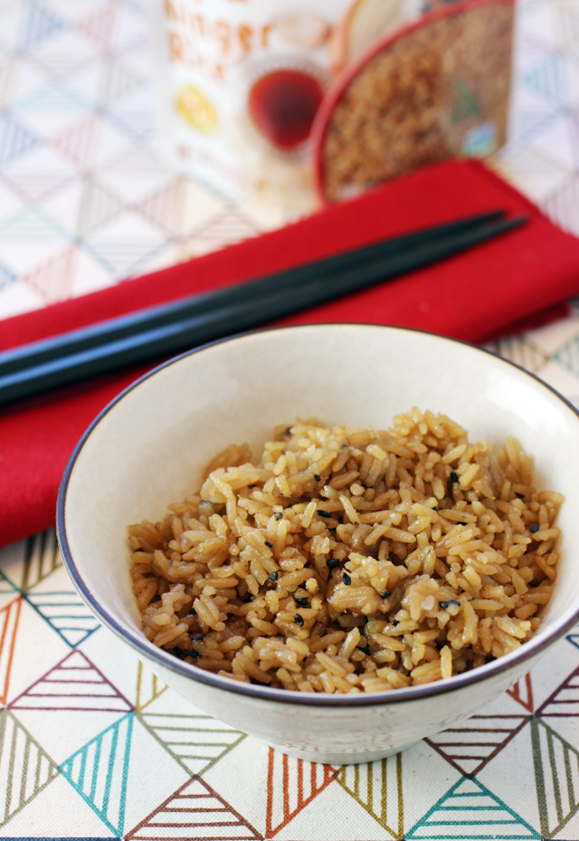 Lundberg Farms heat-and-eat Sesame, Soy & Ginger rice.