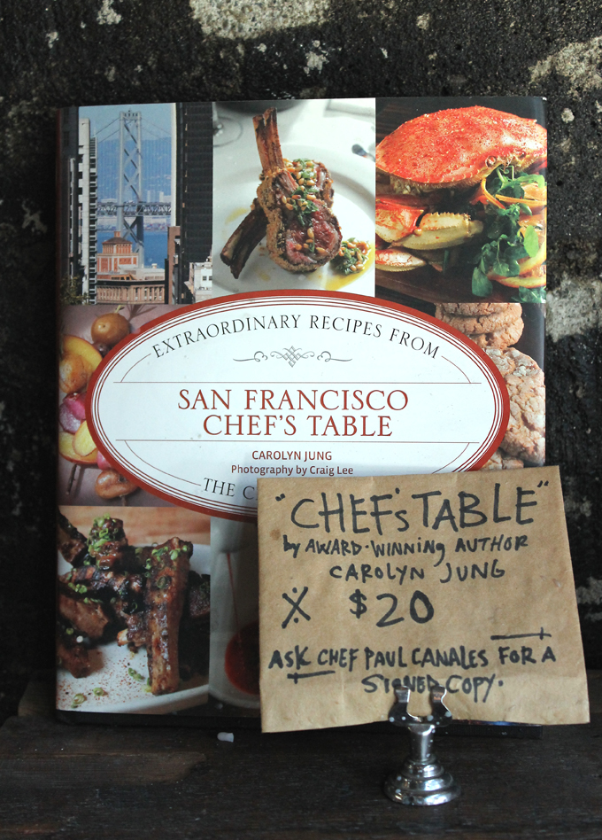 """Including my first cookbook, """"San Francisco Chef's Table,'' which Duende is also featured in."""