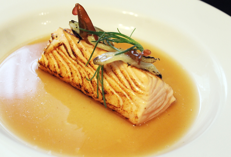The same broth, but with salmon instead.