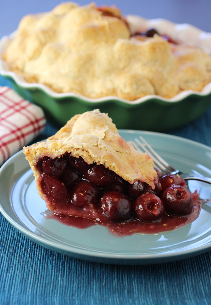 This one was a little messy to slice, but boy, was it loaded with luscious cherries.
