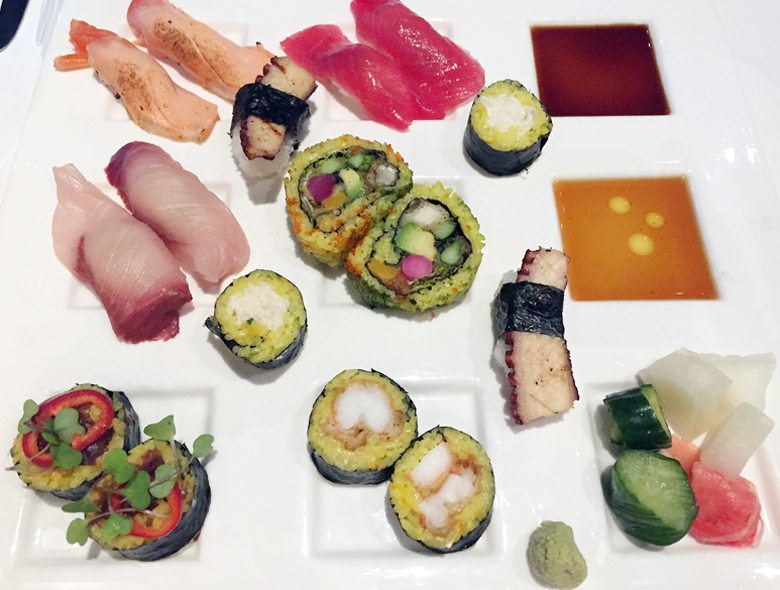 The Sunday Sushi platter made for two at The Sea by Alexander's Steakhouse.