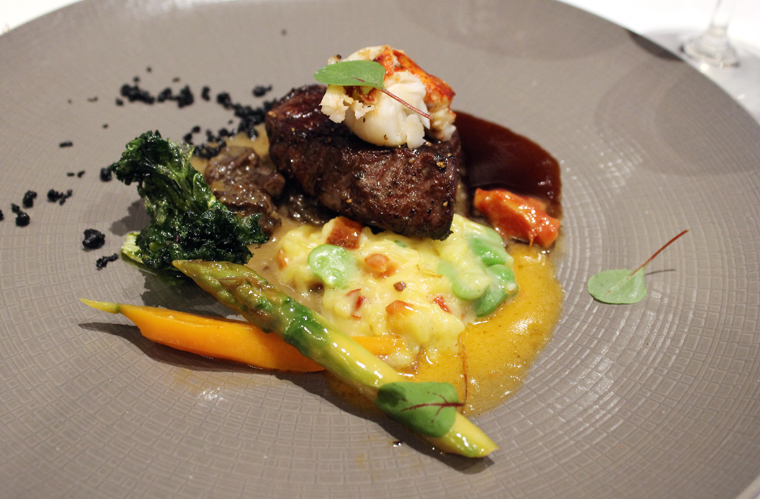 Wagyu and lobster for a posh surf-and-turf.
